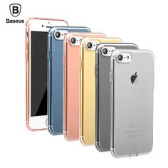 BASEUS for apple iphone 7 / 7 plus TPU Silicone Case Clear Ultra Thin Back Cover for iphone 7 with dust plug
