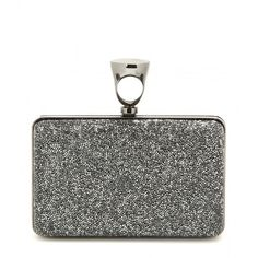 Tom Ford Micro Rock Embellished Box Clutch ($4,135) ❤ liked on Polyvore featuring bags, handbags, clutches, silver, hard clutch, tom ford purse, embellished handbags, rock purses and white clutches