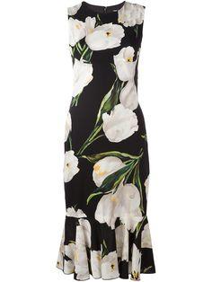 Dolce & Gabbana Платье с Принтом Тюльпанов - Farfetch