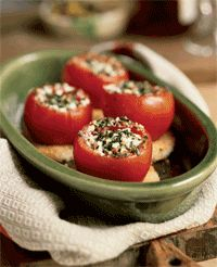 Tomatoes Stuffed with Goat Cheese (Tomates Farcies au Fromage de Chevre) (Anne Willan) (50 Most Influential Women in Food, #27).