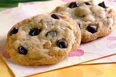 Healthy Diabetic Recipe for Chocolate Chip Cookies. http://www.diabetichealthandwellness.com/t-recipesChocolateChipCookies.aspx