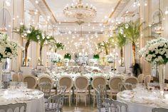 Decoração clássica para a festa no Copacabana Palace