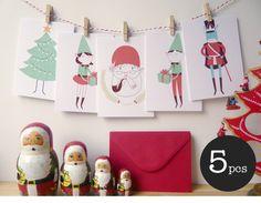 Tarjetas de Navidad ideales (5 modelos diferentes!)