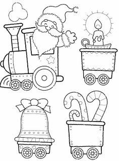 Moldes para comboio de natal | Pra Gente Miúda