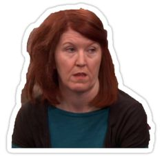 'Meredith The Office US' Sticker by denamohseni The Office Stickers, Preppy Stickers, Red Bubble Stickers, Phone Stickers, Meredith The Office, Oscar Nunez, Phyllis Smith, The Office Valentines, The Office Characters