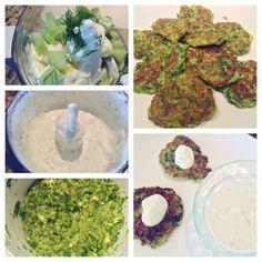 St. Patrick's Day Snack: Zucchini Fritters with Garlic Tzatziki