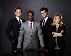 Josh Lawson, Don Cheadle, Ben Schwartz & Kristen Bell, House of Lies, Showtime (2012)