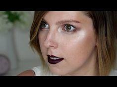 Fall makeup Strobing + dark lip - Makeup Tutorial