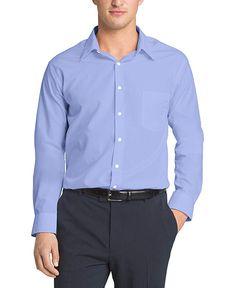 11afde93ddc1c Van Heusen Men s Poplin Regular Fit Solid Point Collar Dress Shirt at Amazon  Men s Clothing store
