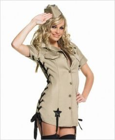 Leg Avenue Pin-Up Army Girl Costume. £51.99 : Direct 2 U Fancy Dress Superstore. Fancy Dress For The Whole Family.http://direct2ufancydress.com/leg-avenue-pinup-army-girl-costume-p-12180.html