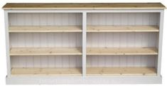 100% Solid Wood Bookcase, 3ft Tall x 6ft Wide White Painted & Waxed Adjustable Display Storage Shelving Unit. No Flat Packs, No Assembly (BK8-CP): Amazon.co.uk: Kitchen & Home Long Low Bookcase, Storage Shelving, Shelves, Contrast Lighting, Thing 1, Trim Color, Light Oak, Paint Finishes, White Paints