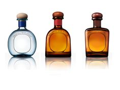 Don Juliom, The bottle structure design for Don Julio Tequila. The design represents a progression in the product line from round to sharp, from soft to masculine, and from affordable to luxury. The new line clearly sets the types of tequila, Blanco, Reposado and Anejo, apart from each other in a structural point of view. Designed at Atlason.