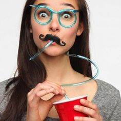Get your Movember Support On - Mustache Drinking Glasses Straw. - http://holycowohmygod.com/index.php?route=product/product&product_id=104