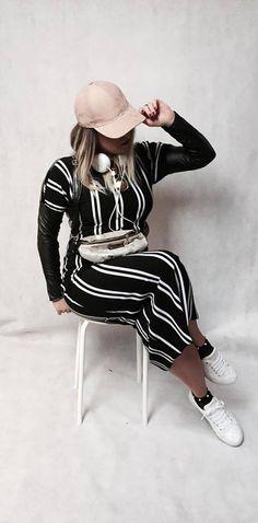 Zapraszamy do sklepu TkaneDziane.pl  Sukienka z naszego materiału uszyta przez R.K Designer  #sukienka #dress #paski #czarna #topmoda #pique #RomanaKryściak #polscy_projektanci #sportowa #moda Striped Pants, Fashion, Moda, Stripped Pants, La Mode, Striped Shorts, Fasion, Fashion Models, Trendy Fashion