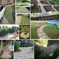 Details about 4 Styles Grip Driveway Paving Mold Patio Concrete Stone Path Walk Maker Walkway Stepping Stone Pavers, Concrete Paving, Cement Patio, Concrete Molds, Concrete Stone, Stone Path, Pebble Garden, Garden Paving, Garden Paths