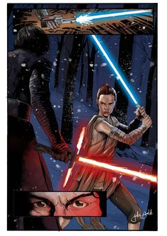 THERE HAS BEEN AN AWAKENING! First full illustration of 2016 and I had to do the Force Awakens! Rey is an amazing character!This started off as a sketch of Rey, then evolved - through several re-draws - into a comic like page. It was loads of fun making this image! I really wanted to get her face right, it took probably half a dozen goes to get it to a place where i was happy. Follow my art here!