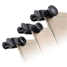 Black  3in1 Wide Angle+Fish Eye+Macro Camera Photo Zoom Lens Kit For iPhone 5 5s 6 plus S3 S4  S5 S6 iPhone Web Shop |