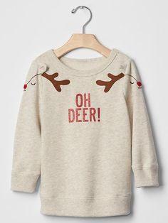 Oh deer sweatshirt tunic