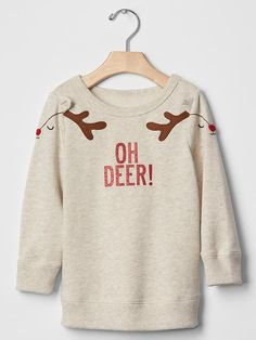 Oh deer sweatshirt tunic Product Image