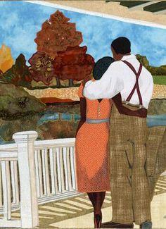 African American quilt by award winning fifth generation quilt maker Phyllis Stephens. African American Artist, African Art, Pics Art, Art Pictures, African Quilts, Black Artwork, Afro Art, Arte Pop, Love Art