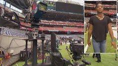 Simone Biles Gets A Sneak Peak Of Super Bowl Festivities Before The Big Game