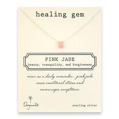pink jade healing gem reminder, sterling silver $38.00
