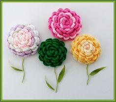 Crochet Corsage Brooch  Rose Brooch  Any Color  by CraftsbySigita,