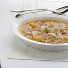 Zuppa di farro al pecorino | Donna Moderna