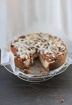 Caramel and coconut cheesecake |