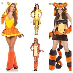 Tigger {I would maybe do this: yellow vest, orange and black tiger-stripe jacket, orange skirt with yellow edging}