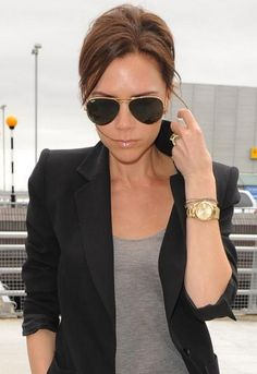 Ray-Ban Aviator Extra Large 62 mm Metal Sunglasses - as seen on Victoria Beckham