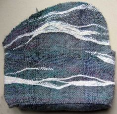 Ruth's weaving projects: Pebble Bag Weaving Complete