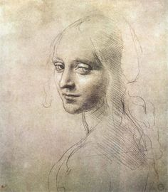 Leonardo da Vinci , head of a girl.