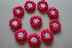 Blüten+Blumen+*+gehäkelt+*+Aufnäher+*+Aplikation++von+Babys+Kuschelparadies+auf+DaWanda.com