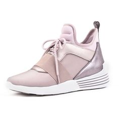 KENDALL & KYLIE Braydin 3 (8.010 RUB) ❤ liked on Polyvore featuring shoes, light pink, kendall kylie shoes, lace up shoes, low heel strappy shoes, short heel shoes and high top lace up shoes