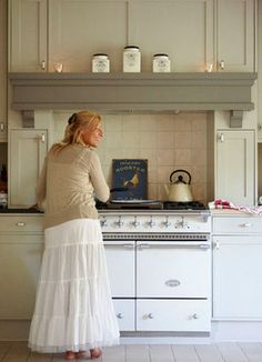Gmlens Country House (Belgium) - - kitchen - - by gregory lens - love the shelf over the stove
