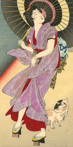 Toyohara Chikanobu I don't know that I have ever seen a print of a ro kimono.