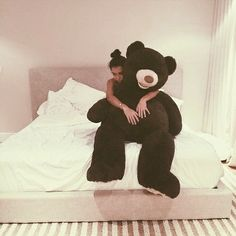 She's staring to love the bear more than me