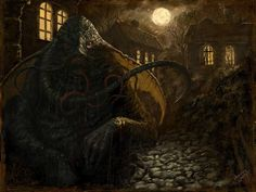 """""""Innsmouth"""", by karithmorana at Deviant Art. View their gallery (with some neat Lovecraftian chess pieces! The Shadow Over Innsmouth, Yog Sothoth, Call Of Cthulhu Rpg, Lovecraftian Horror, Hp Lovecraft, Horror Fiction, World Of Darkness, Creepy Art, Fantastic Art"""