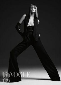 Abbey Lee Kershaw by Hedi Slimane Vogue China, Hedi Slimane, High Fashion, Womens Fashion, Ann Demeulemeester, Dark Beauty, Classy And Fabulous, Wide Leg Jeans, Fashion Shoot