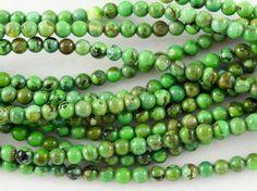 Turquoise Round Beads 3mm (TUR1123)