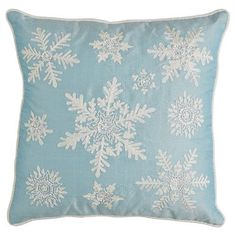 Icy Snowflake Pillow from Pier 1 imports. Do you include cold climate details to your holidays here in paradise?
