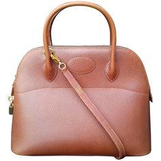 Hermès Vintage Bolide Bag 2 ways Brown Leather Golden Hdw 33 cm  bfca59d306f5e