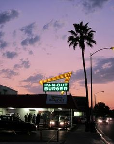 Yessss, a Double-Double with everything. The oldest existing In-N-Out Burger, On East Foothill in East Pasadena, California.