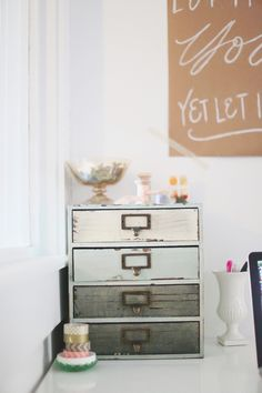 Photography: Hello Love Photography - hellolovephoto.com  View entire slideshow: 20 Chic Ideas for an Organized Office on http://www.stylemepretty.com/collection/329/