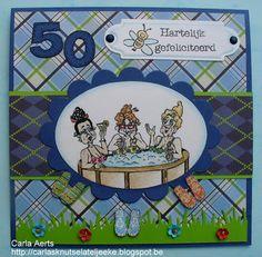 I Brake For Stamps Humorous Seniors. Girlfriends in hot tub...SOAKING THE PRUNES. Birthday card. http://ibrakeforstamps.com/soakingtheprunes.aspx