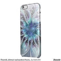 Flourish, abstract and modern Fractal Art Clear iPhone 6 Plus Case