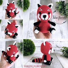 """Ceci est un FICHIER PDF écrit par """"Valérie fil un crochet"""" pour réaliser YUSHU, le Panda Roux.  Ce tutoriel est écrit en français. Il comporte un fichier PDF de 5 pages avec photos et explications pour 100% de réussite.   Le Panda Roux mesure 17 cm de hauteur.  Pour réaliser ce personnage , vous aurez besoin de :   - 100% coton,  - crochet 2.5 - aiguille - 2 yeux sécurisé 8mm.  #tutoriel #tuto #panda #roux #red #animal #amigurumi Crochet Amigurumi, Crochet Hats, Panda, Dinosaur Stuffed Animal, Etsy, Photos, Animals, Crochet Flowers, Tutorial Crochet"""
