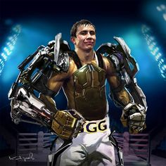 Boxer Gennady Golovkin , Kdyrov Daniyar on ArtStation at https://www.artstation.com/artwork/ZdY21