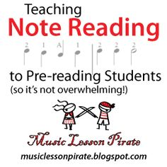 Teaching Note Reading to Pre-reading Students: Music Lesson Pirate - Violin Teaching Resources Blog